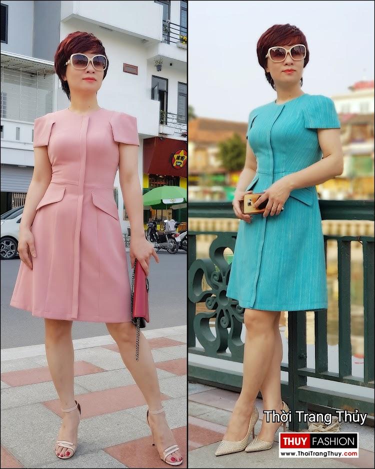 Váy xòe chữ A mặc công sở và dạo phố V700 thời trang thủy hải phòng