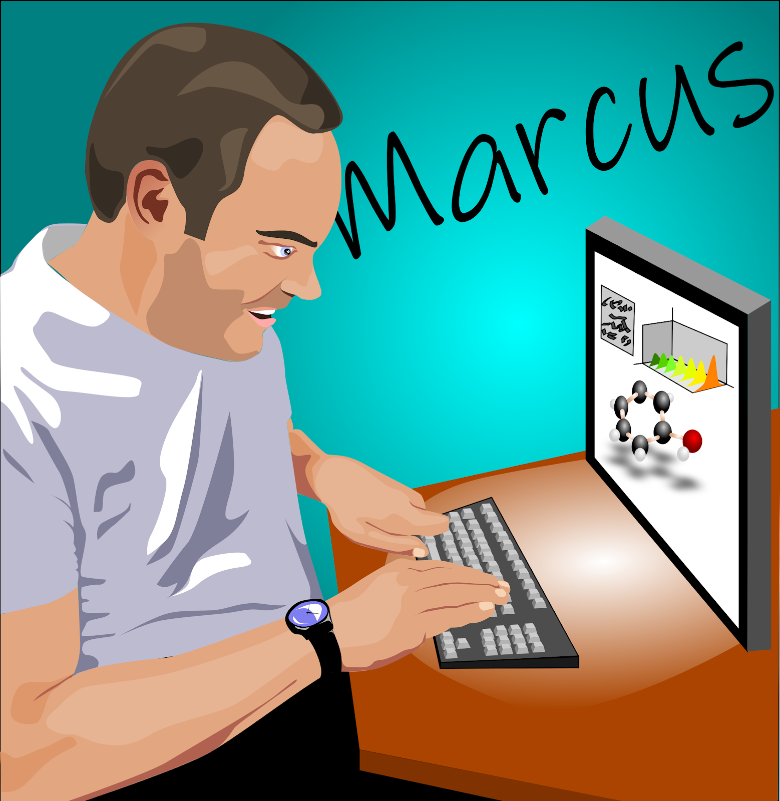 A stylised portrait of Marcus Taylor