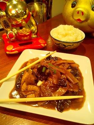 Magret de canard woké aux champignons noirs et bambous