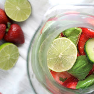 Strawberry Basil Lime Spa Water.