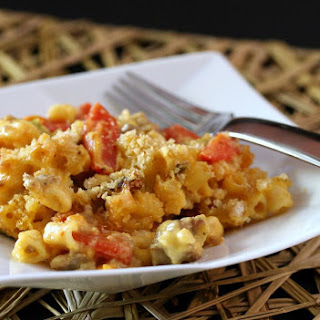 Macaroni and Cheese With Sausage.