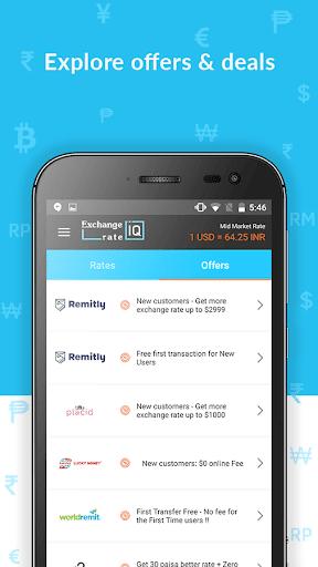 Exchange Rate IQ -Comparar transferencia de dinero screenshot 5
