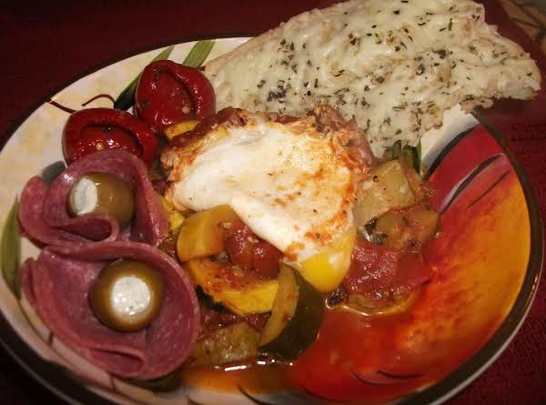 Ratatouille With Poached Eggs Recipe