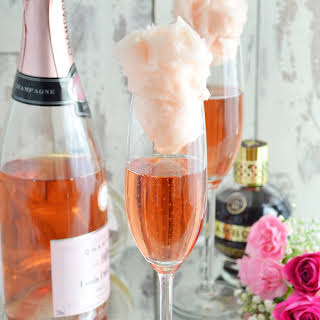 Candy Floss Champagne Cocktail.