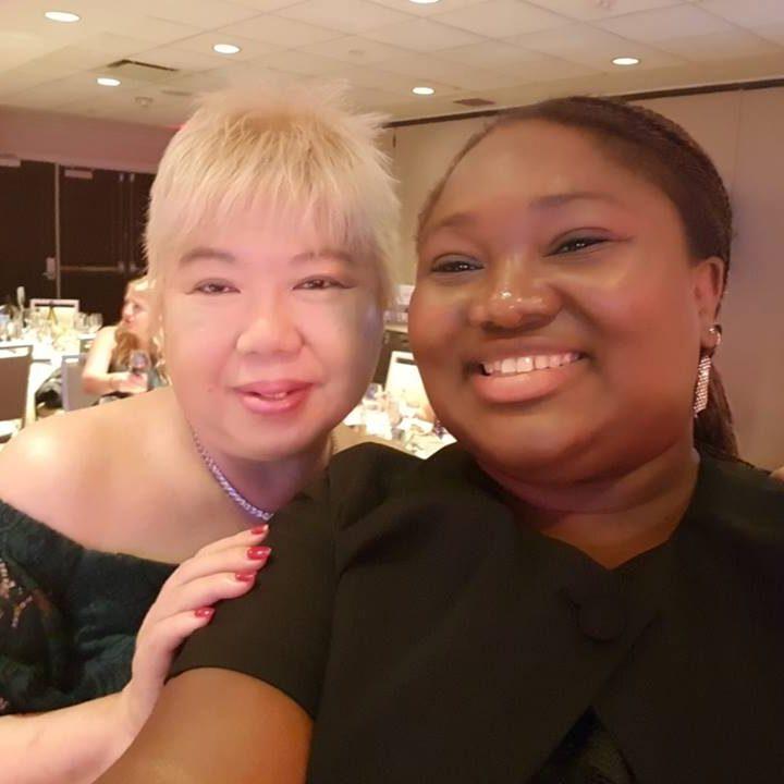 Stella Bida with Veronica Chew