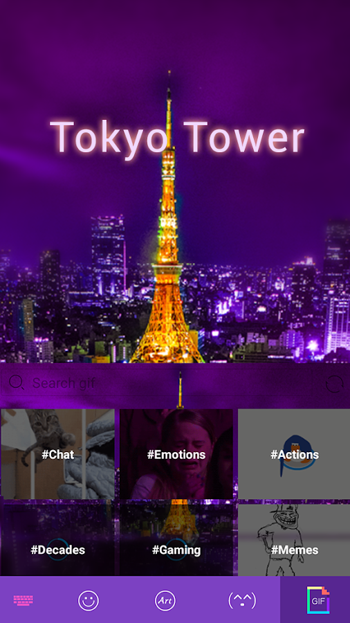 Tokyo-Tower-theme-for-keyboard 7