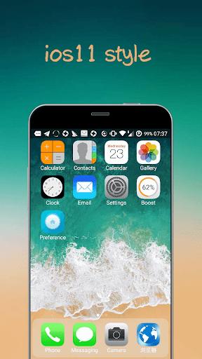 iLauncher X - new iOS theme for iphone x Apk 1