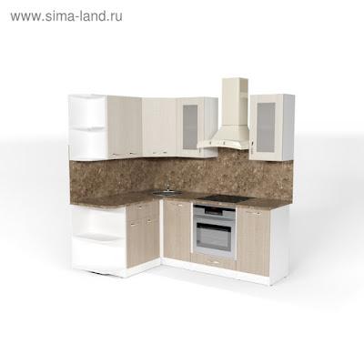 Кухонный гарнитур Ольга прайм 3 1500*2000 мм