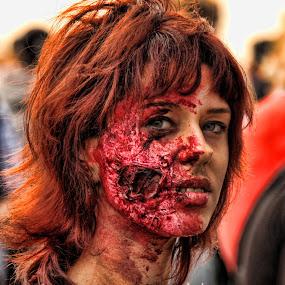 Beauty by Axel K. Böttcher - People Body Art/Tattoos ( zombie, beauty, portrait,  )