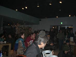 Photo: 会場となったカフェスローの中。たまゆらが出ています。