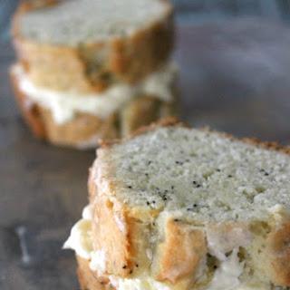 Almond-Poppy Seed Pound Cake with Lemon Cream Cheese
