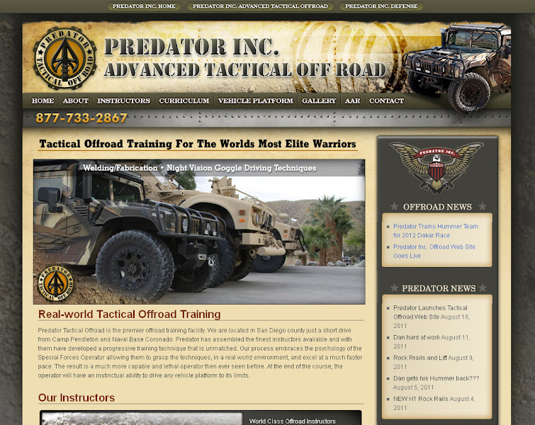 Photo: Predator, Inc. Advanced Tactical Off Road Black Oak Casino Web Design and Development