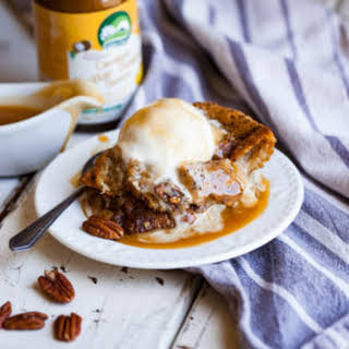 Vegan Butterscotch Bourbon Bread Pudding.