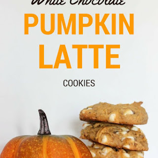 White Chocolate Pumpkin Latte Cookies
