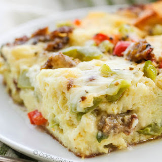 Italian Overnight Breakfast Casserole