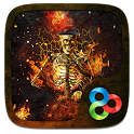 Fire Skull 3D Go Launcher Theme icon