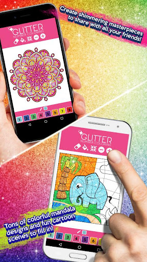 Glitter Color By Number - Glitter Number Coloring screenshot