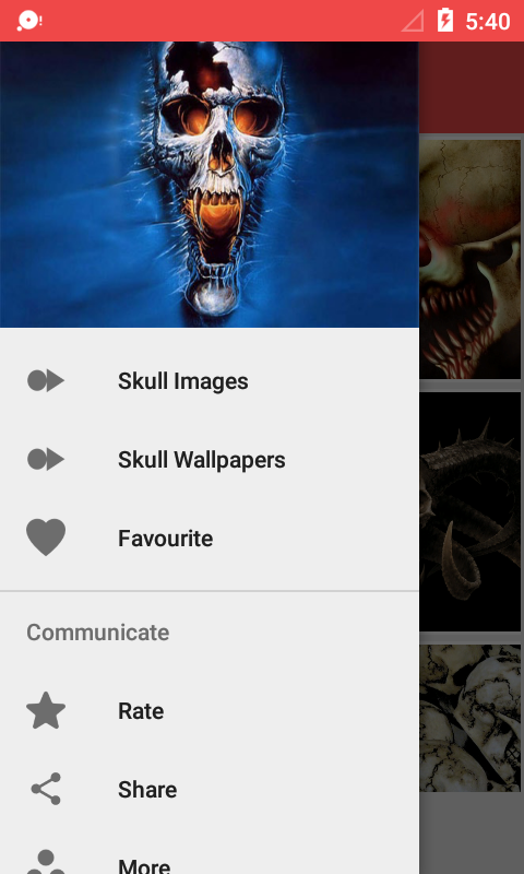 Skull Wallpaper HD- screenshot