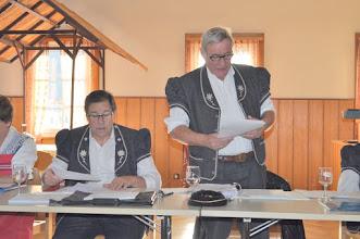 Photo: Rapport du Président René Kolly