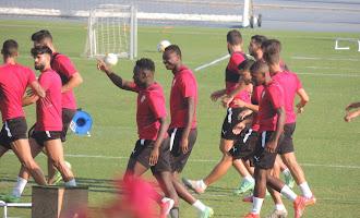 Entrenamiento del Almería 21 de julio (tarde)