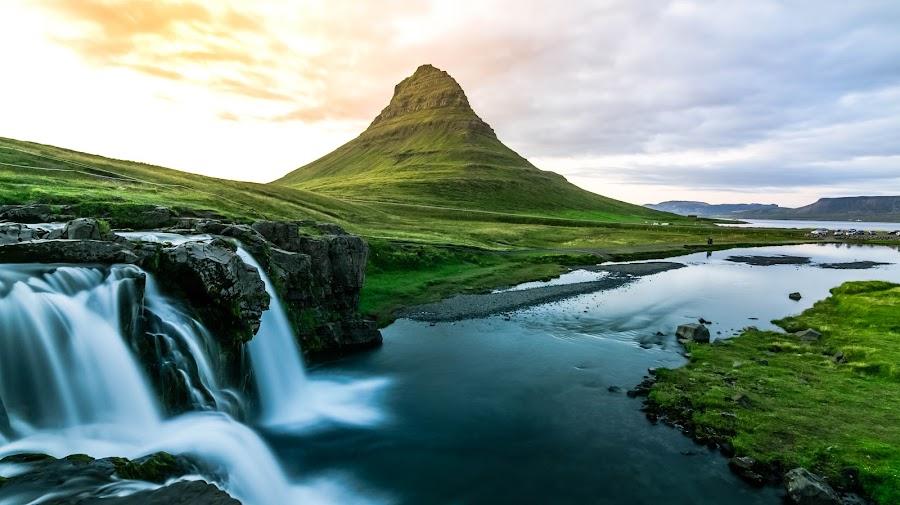 Kirkjufell by Soumya Ghosh - Landscapes Mountains & Hills ( kirkjufell, hill, iceland, snaefellsnes, waterfall,  )