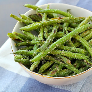 Roasted Green Beans with Parmesan and Basil Recipe
