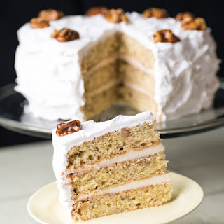 Mary Berry's Frosted Walnut Layer Cake.