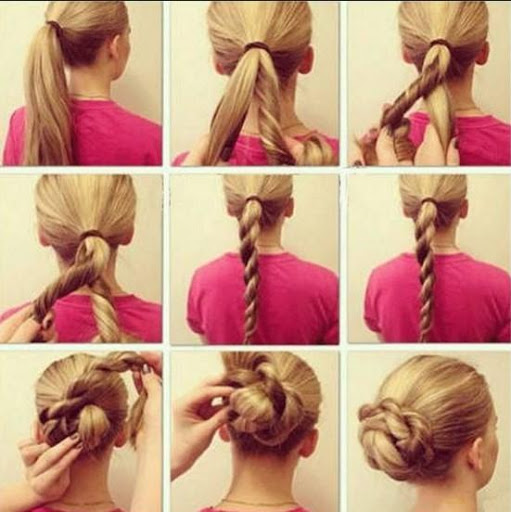 DIY髪型チュートリアルアイデア