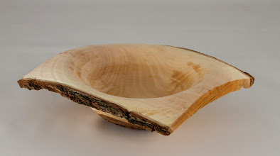 Photo: Paul Simon 7 x 2 natural edge bowl [crab apple]