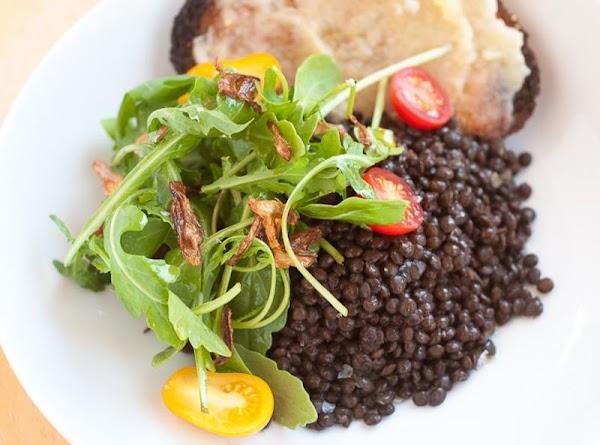 Black Lentil Salad With Arugula & Crispy Shallots Recipe