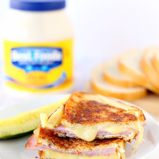 Grilled Ham and Pepper Jack Cheese Sandwich with Mayo Recipe