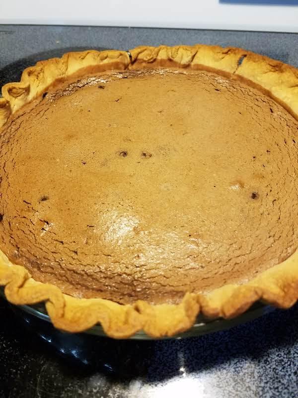 Baked Chocolate Pie Recipe
