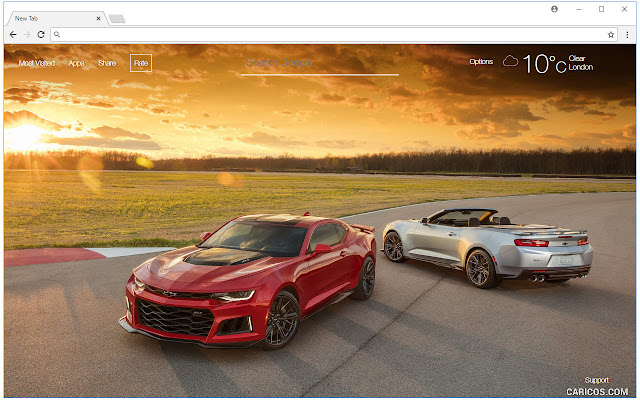 Chevrolet Wallpapers HD New Tab Themes