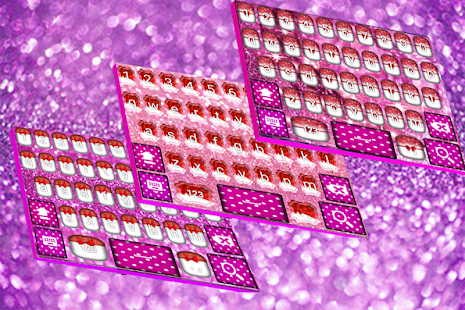 Pink Bow Glitter Keyboard - náhled