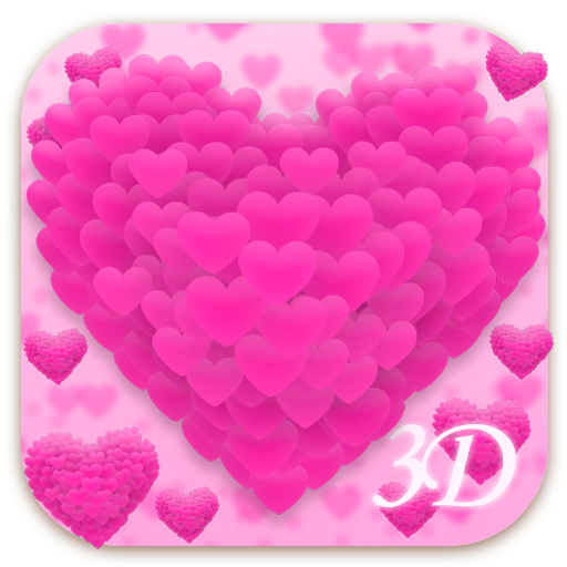 3D Live Pink Heart Keyboard Android APK Download Free By Dream Keyboard Creator