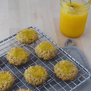 Sunflower-Oat Thumbprint Cookies with Lemon Curd.