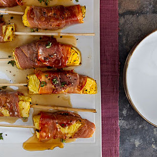 Prosciutto-Wrapped Pineapple Kebabs.