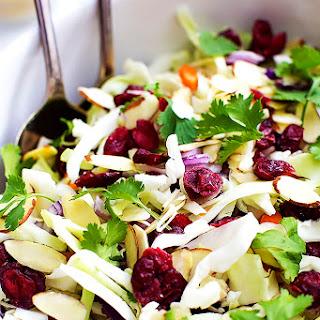 Asian Cranberry Almond Salad + Sesame Dressing.