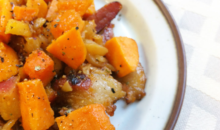 Bacon Apple Sweet Potato Hash Recipe