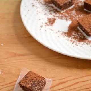 Raw Vegan Coconut Brownies.