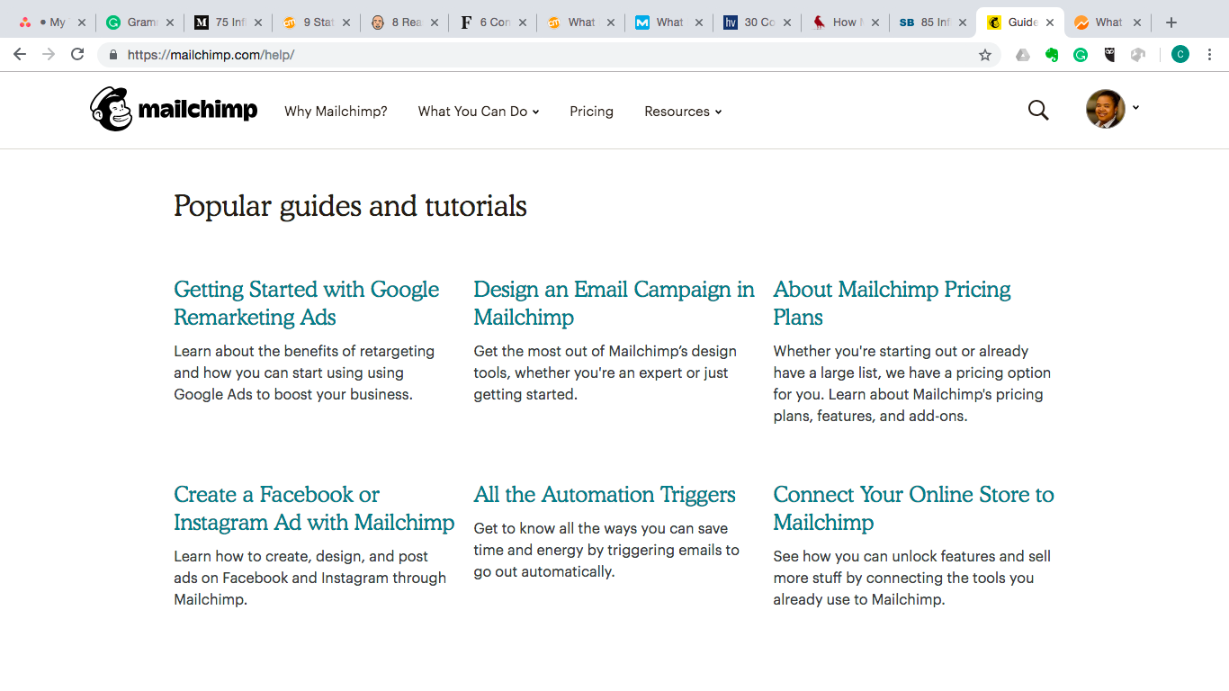 MailChimp Blog example