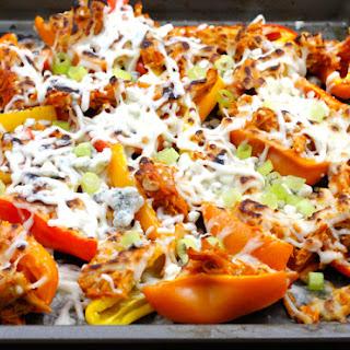 Buffalo Chicken Mini Pepper Nachos.