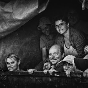 The Working Class Goes To Heaven by Dejan Ilijic - People Group/Corporate ( b&w, senior group, workers )