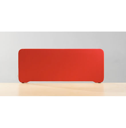 Bordsskärm Edge 800x400mm  röd