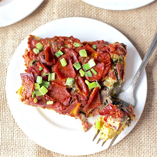 Breakfast Pizza Quiche (Paleo).