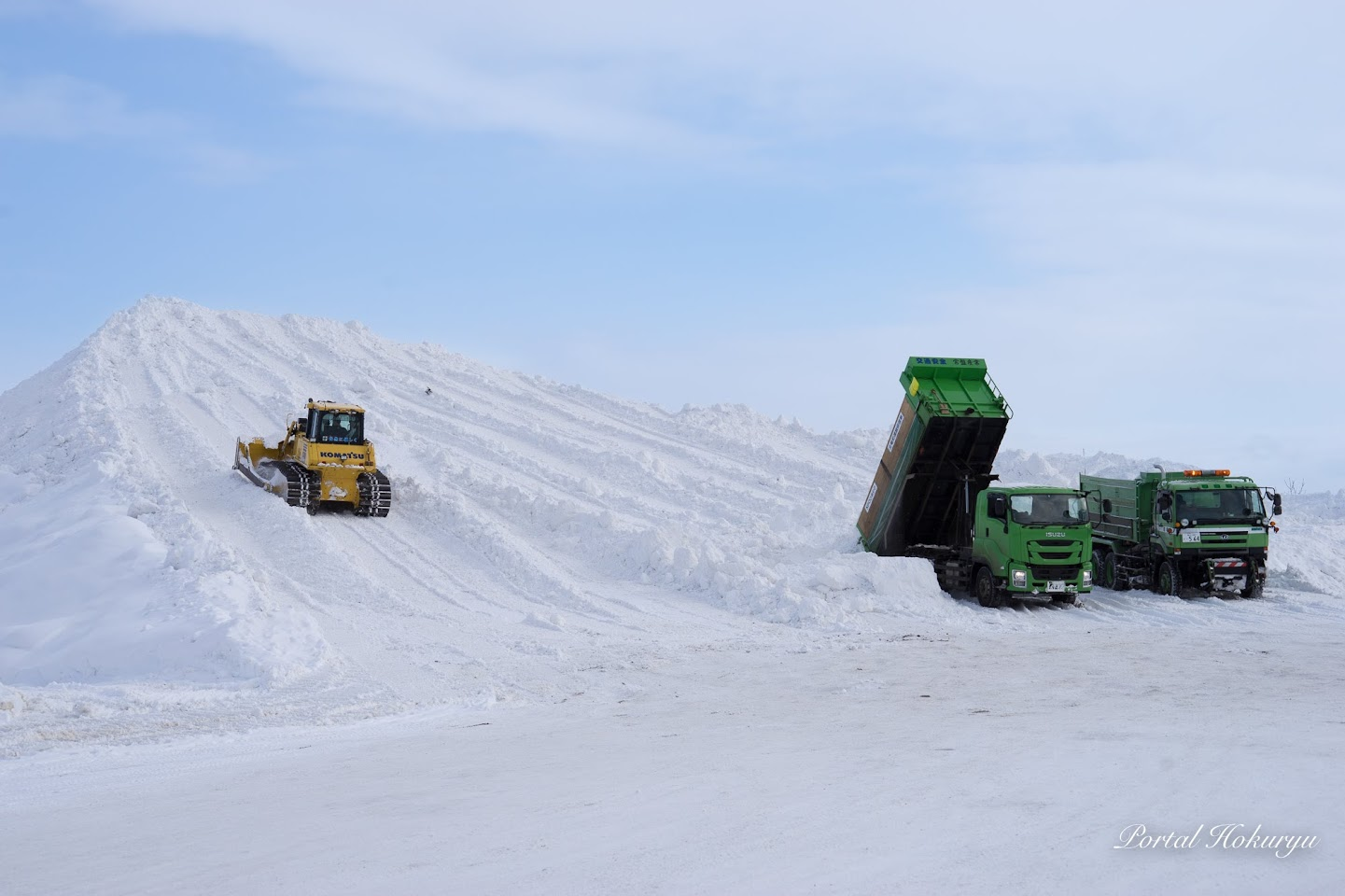 巨大な雪山