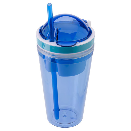 Snack Cup with Drinking Straw and Food Compartment