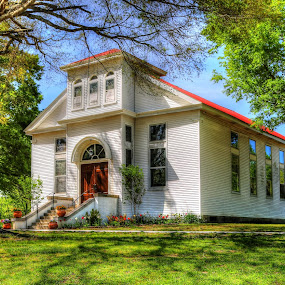 Historic Prosperity Presbyterian Church in Hickory Withe, TN by Billy Morris - Buildings & Architecture Public & Historical ( tn, memphis, church, presbyterian, hickory withe,  )