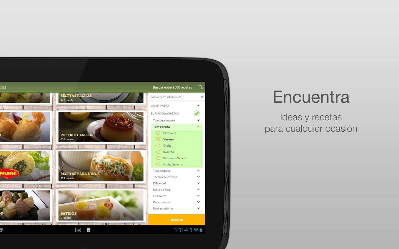 Nestl cocina recetas y men s aplicaciones de android for Aplicacion para disenar cocinas