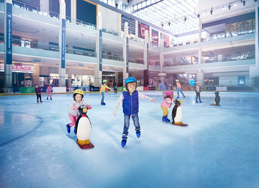 Ice skating in Dubai? It's offered year-round for skaters of any age.